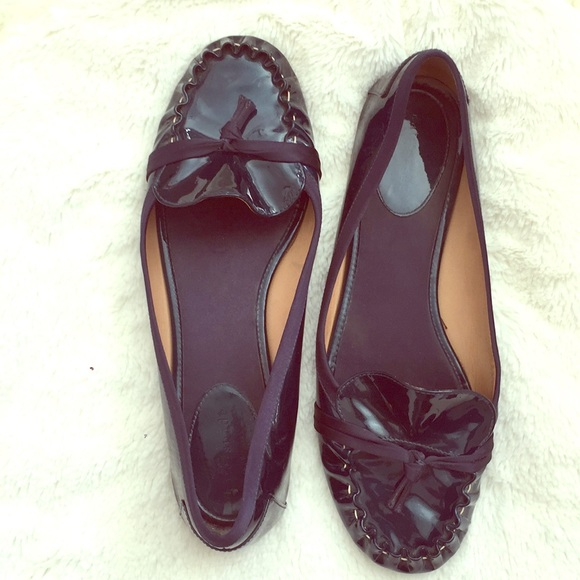 66daec1881b4 kate spade Shoes - Kate Spade Navy Patent Leather Flats